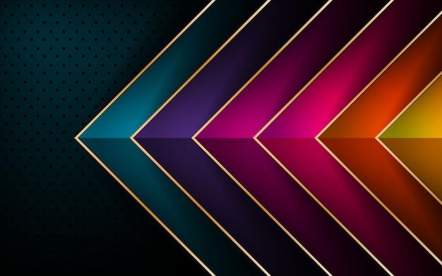 Vetor de seta colorida sobreposição de fundo de camada Vetor Premium