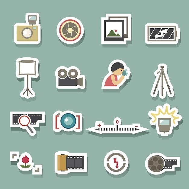 Vetor de símbolo de câmera Vetor Premium