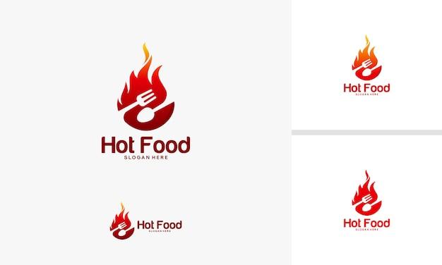 Vetor de símbolo de comida de fogo Vetor Premium