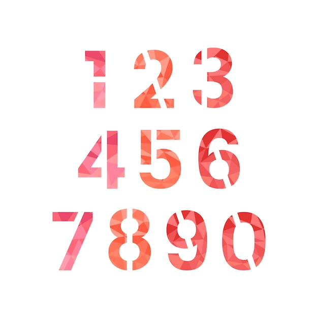 Vetor de sistema numérico número 0-9 Vetor grátis