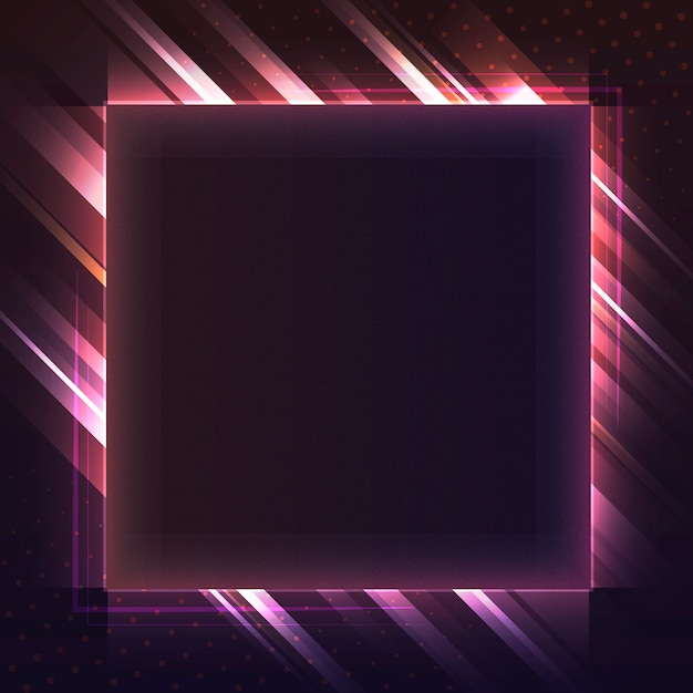 Vetor de tabuleta de néon quadrado vermelho em branco Vetor grátis