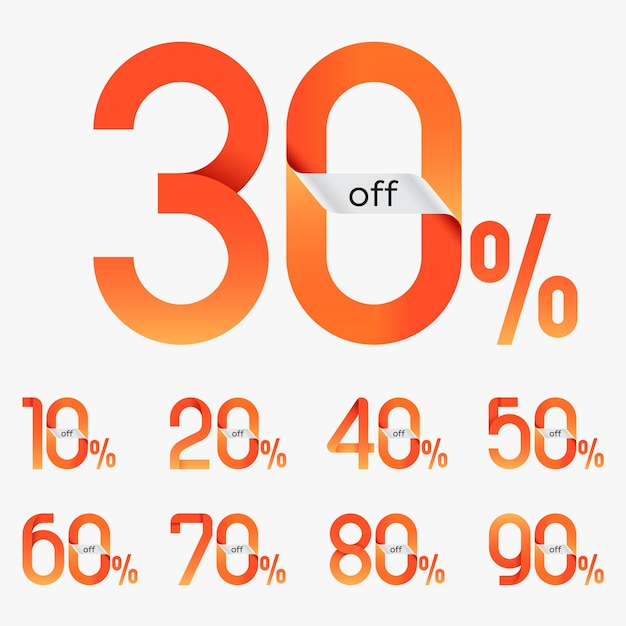 Vetor de tags de venda de desconto Vetor Premium