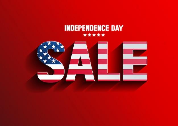 Vetor de venda do dia da independência Vetor Premium