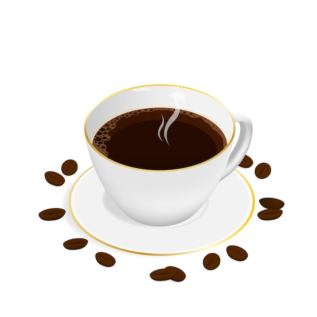 Vetor de xícara de café expresso isométrico Vetor Premium