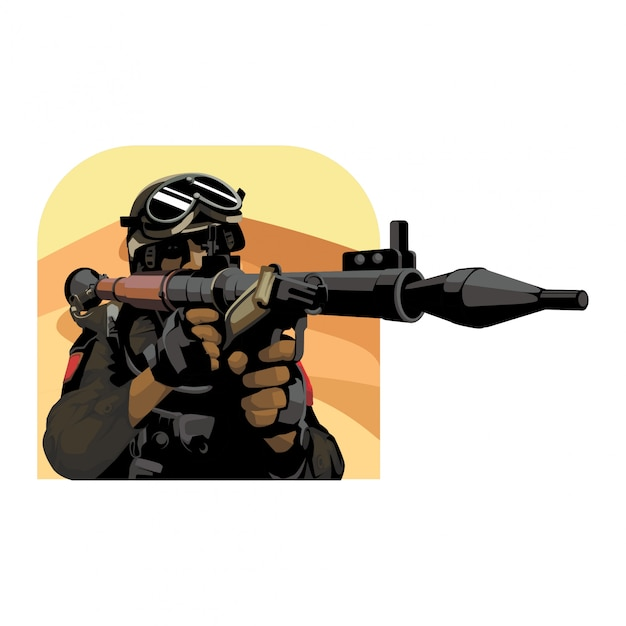 Vetor do exército do deserto Vetor Premium
