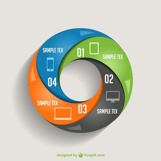 Vetor infográfico design de apresentação de informações Vetor grátis