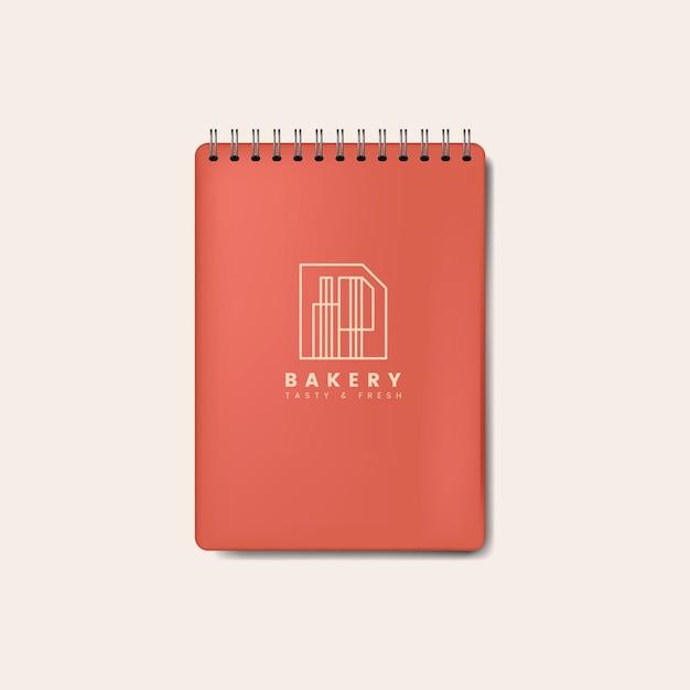 Vetor isolado de caderno vermelho espiral maquete Vetor grátis