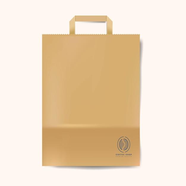 Vetor isolado de maço de saco de papel Vetor grátis