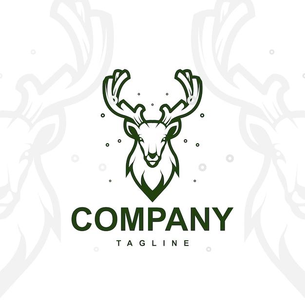 Vetor logotipo de veado Vetor Premium