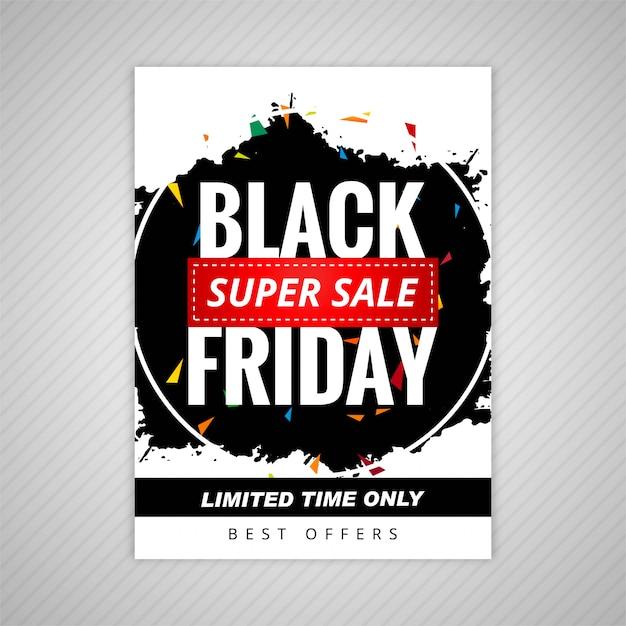Vetor preto elegante do projeto do molde da venda de sexta-feira Vetor grátis