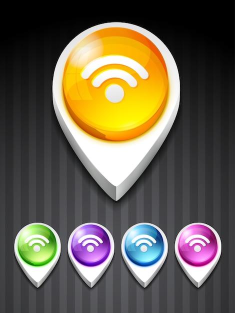 Vetor rss feed icon design art Vetor grátis