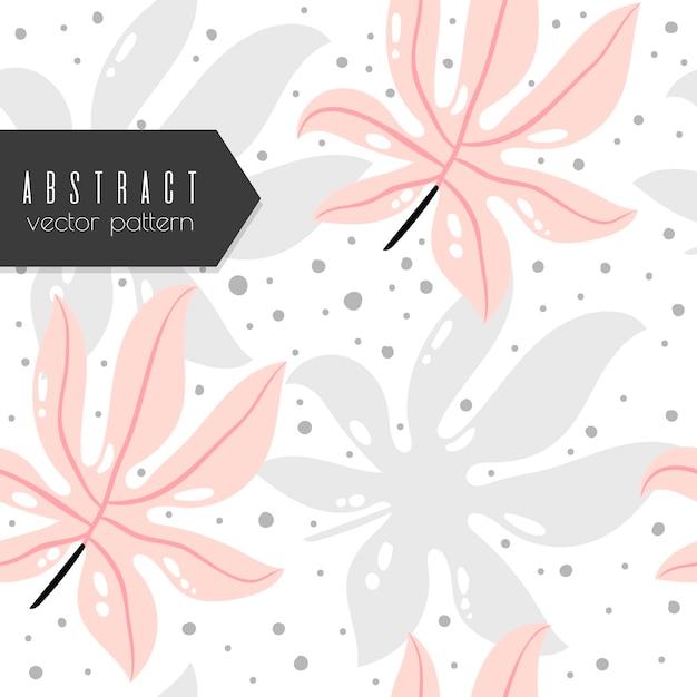 Vetor tropical de fundo - padrão abstrato sem emenda Vetor grátis