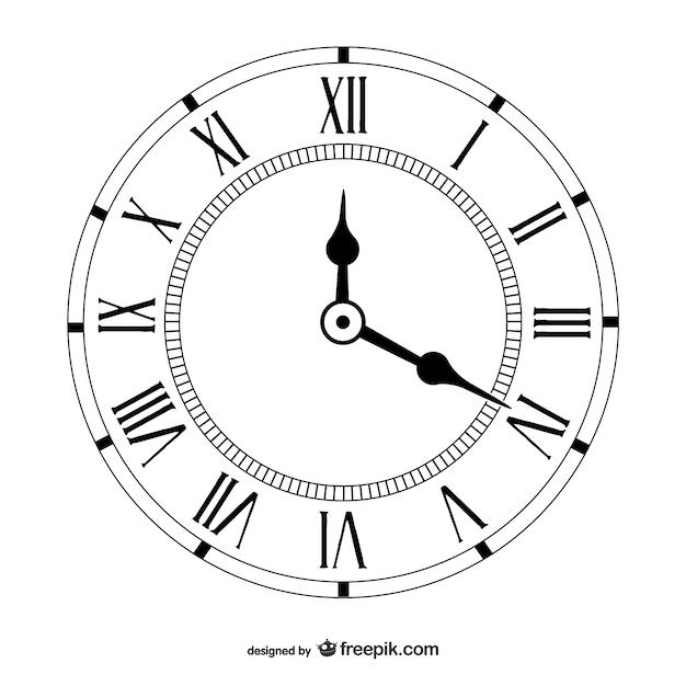 Vetor vintage clock Vetor Premium