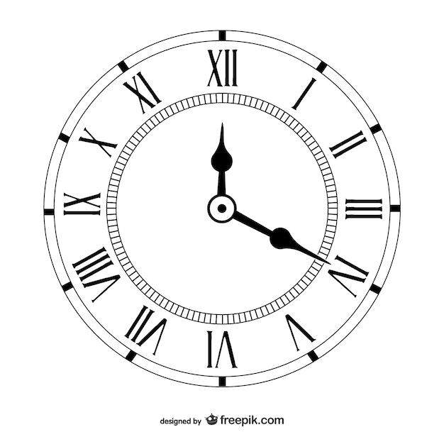 Vetor vintage clock Vetor grátis