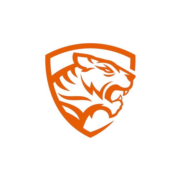 Vetores de logotipo de tigre Vetor Premium