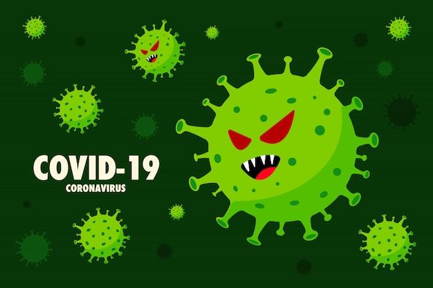 Vetores de vírus corona ilustração. doenças infecciosas. fundo ...