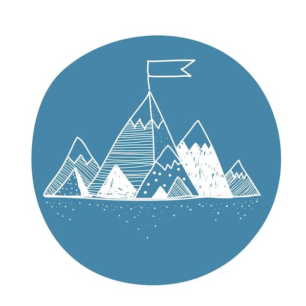 Vetorial, de, montanha Vetor grátis