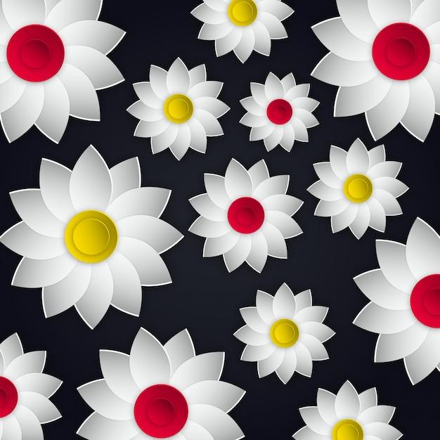 Vetorial, flores, ilustração, desenho Vetor grátis