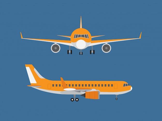 Vetorial, ilustração, de, avião Vetor Premium