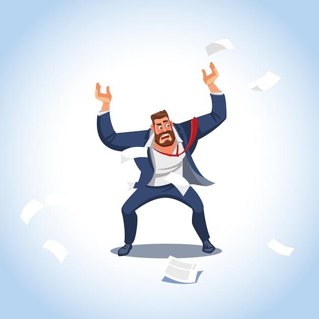 Vetorial, ilustração, de, um, chefe, sob, tensão Vetor Premium