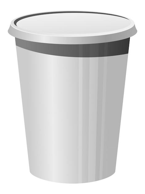 Vetorial, ilustração, de, um, copo plástico Vetor Premium
