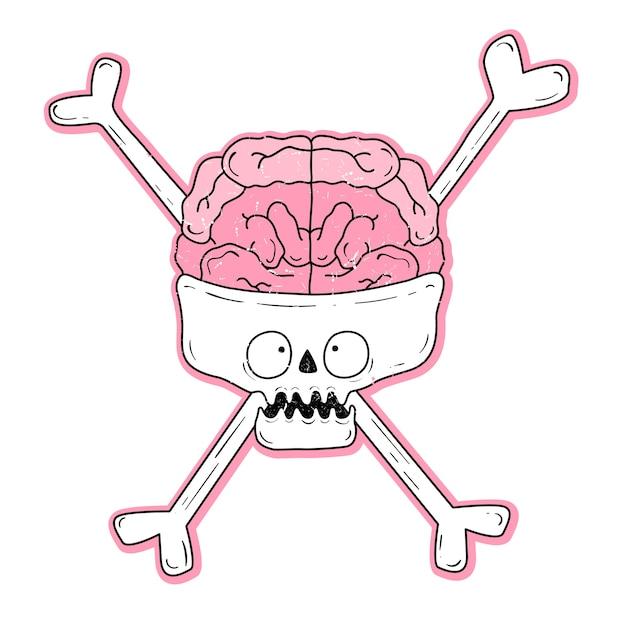 Vetorial, ilustração, de, um, cranio, com, olhos Vetor Premium