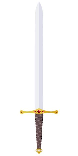 Vetorial, ilustração, de, um, espada, adornado, com, jóias Vetor Premium