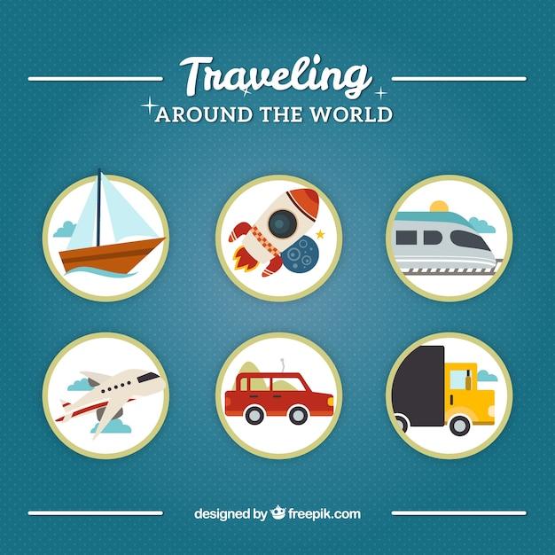 Viajando ao redor do mundo Vetor grátis