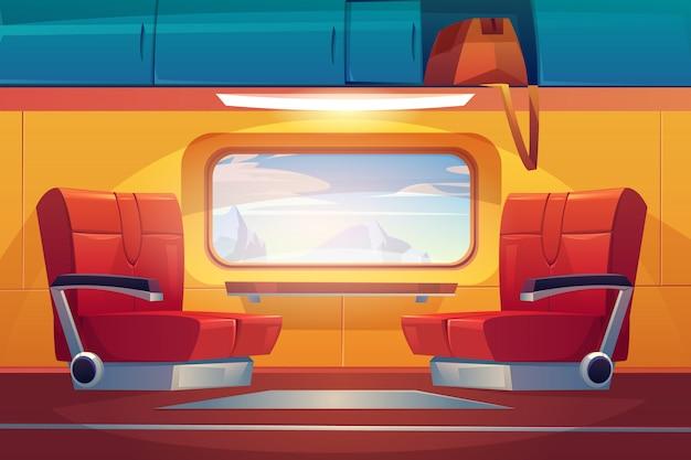 Viajante de trem vazio Vetor grátis