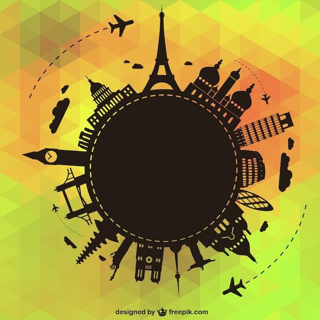 Viajar ao redor do mundo ilustração vetorial Vetor grátis