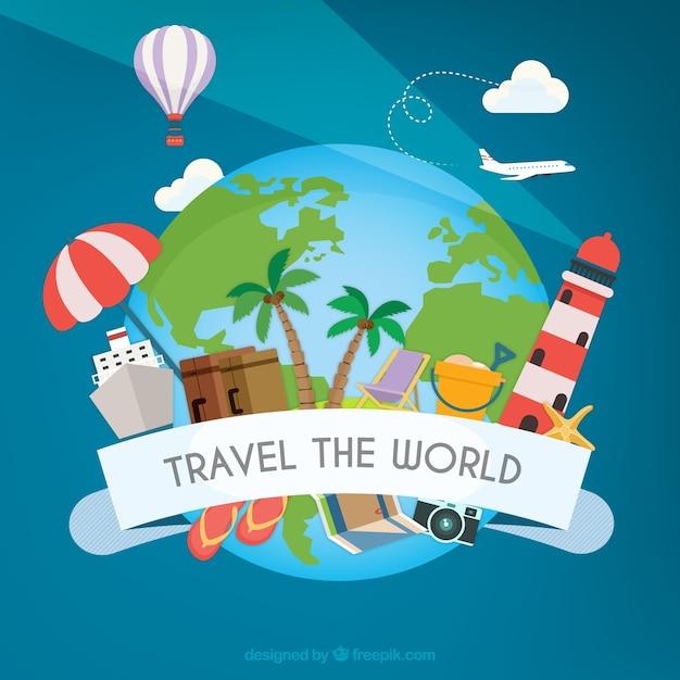 Viaje pelo mundo | Baixar vetores Premium
