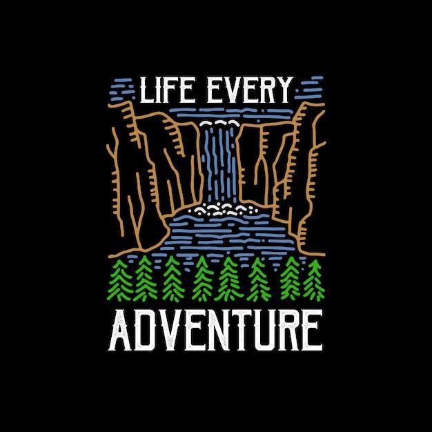 Vida a cada aventura Vetor Premium
