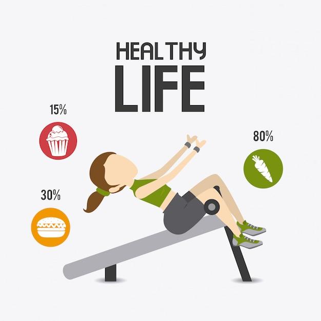 Vida saudável Vetor Premium
