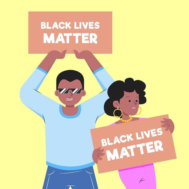 Vidas negras importam conceito Vetor grátis