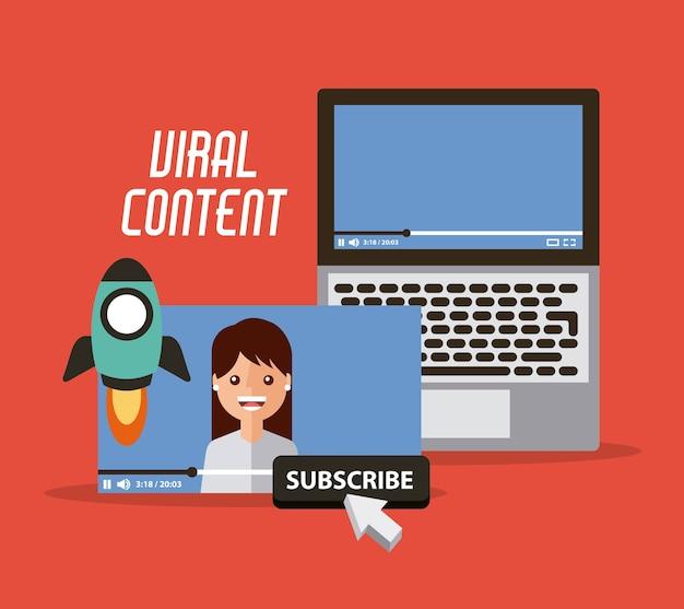 Vídeo de conteúdo viral Vetor Premium