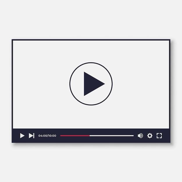 Video player modelo de interface para nós e aplicativos moile Vetor Premium