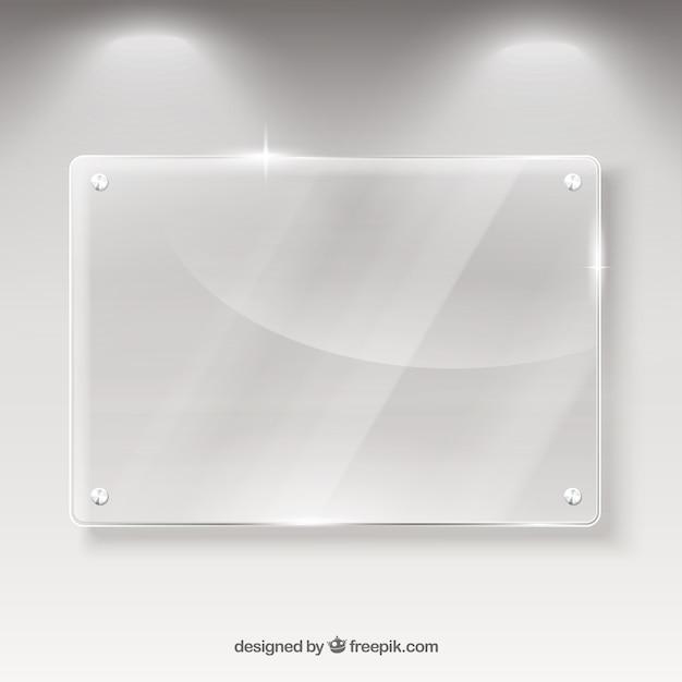 Vidro bandeira Vetor Premium