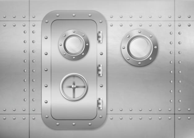 Vigia e porta de metal Vetor grátis