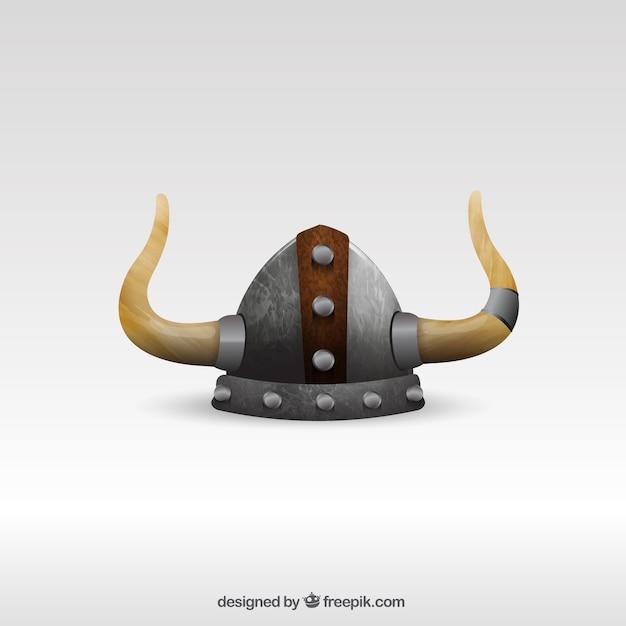 Viking capacete Vetor Premium