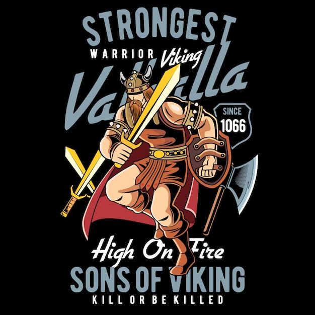 Viking mais forte Vetor Premium