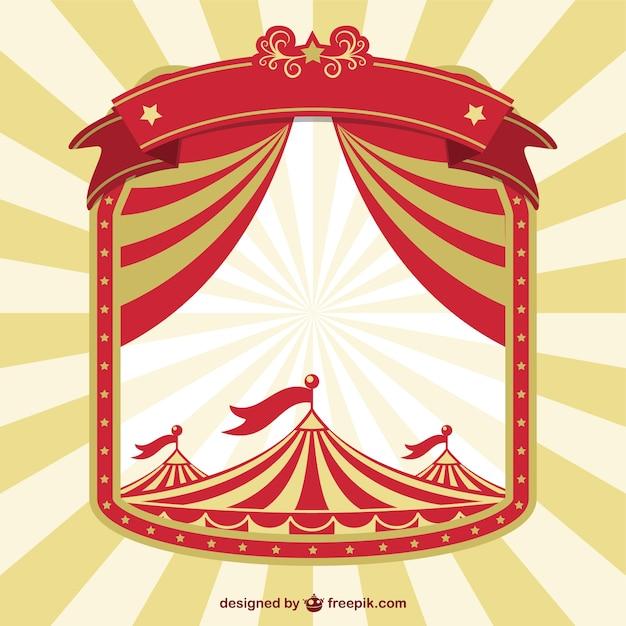 Vindima Circo Conceito Cartaz