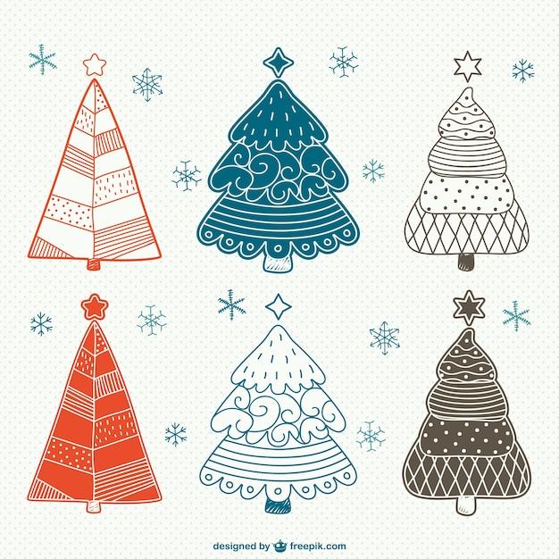 Vindima Desenhos árvores De Natal