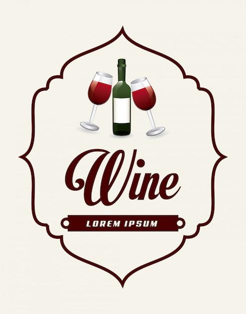 Vinho Vetor grátis