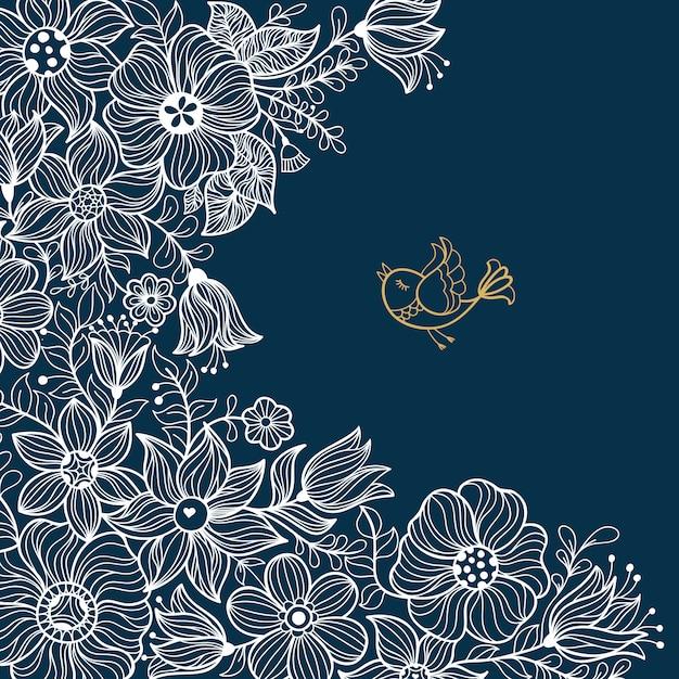 Vintage floral padrão sem emenda. ilustração vetorial Vetor Premium