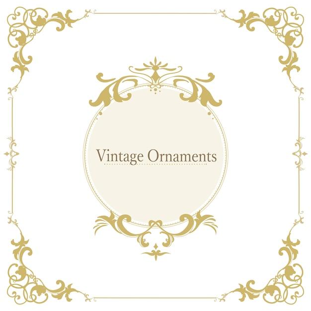 Vintage florescer ornamento quadro vector Vetor grátis