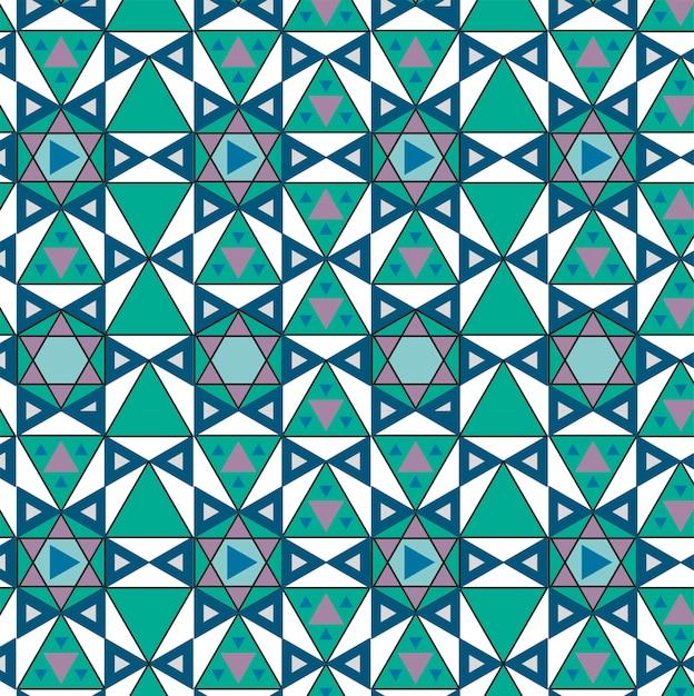 Vintage padrão geométrico inspirado Vetor grátis