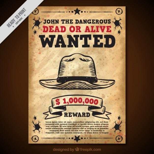 Vintage quis o poster com chapéu e vermelhas detalhes Vetor grátis