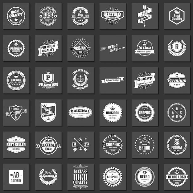 Vintage retro vector logo para banner Vetor Premium