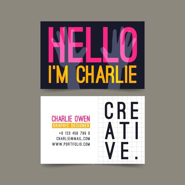 Visite as saudações criativas do cartão da empresa Vetor grátis