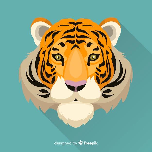 Vista dianteira, fundo tigre Vetor grátis